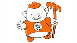 猪八戒卡通形象升级改版闪狼动漫会积极参加和