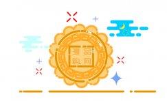 flash绘制扁平化mbe风格月饼中秋快乐主题图标步骤